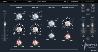 Stereo Channel View of the MEQ-1073 Plugin