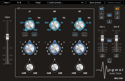 3-band equalizer audio plugin
