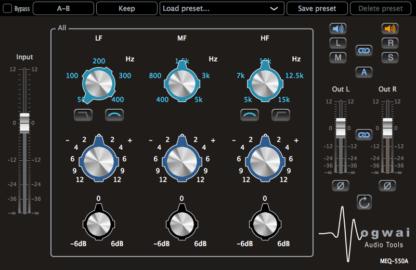 3-band equalizer audio plugin
