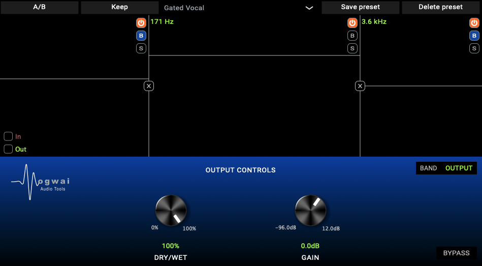 MECHO-MULTI output controls